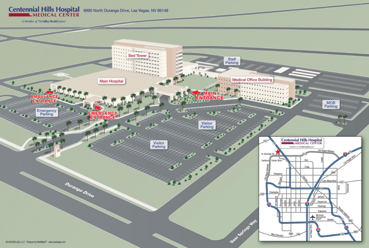 Centennial Hill Hospital Medical Center - Mapa de Instalaciones